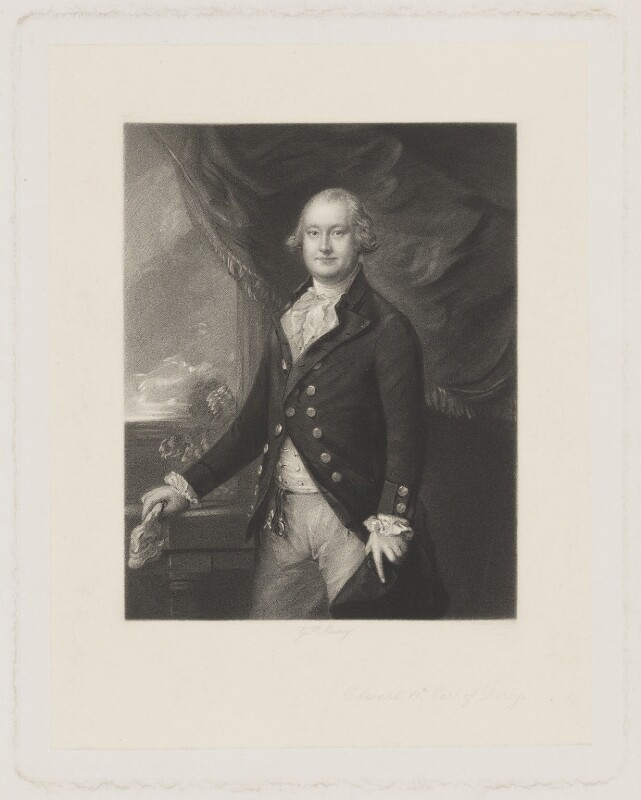 Edward Smith Stanley, 12th Earl of Derby, by George H. Every, after  Henry Graves & Co, after  Thomas Gainsborough, published 1871 - NPG D35035 - © National Portrait Gallery, London