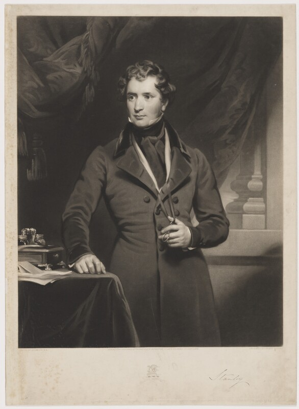 Edward Stanley, 14th Earl of Derby, by Henry Cousins, published by  Thomas Agnew, and published by  Colnaghi and Puckle, after  Henry Perronet Briggs, published 1 January 1842 - NPG D35039 - © National Portrait Gallery, London