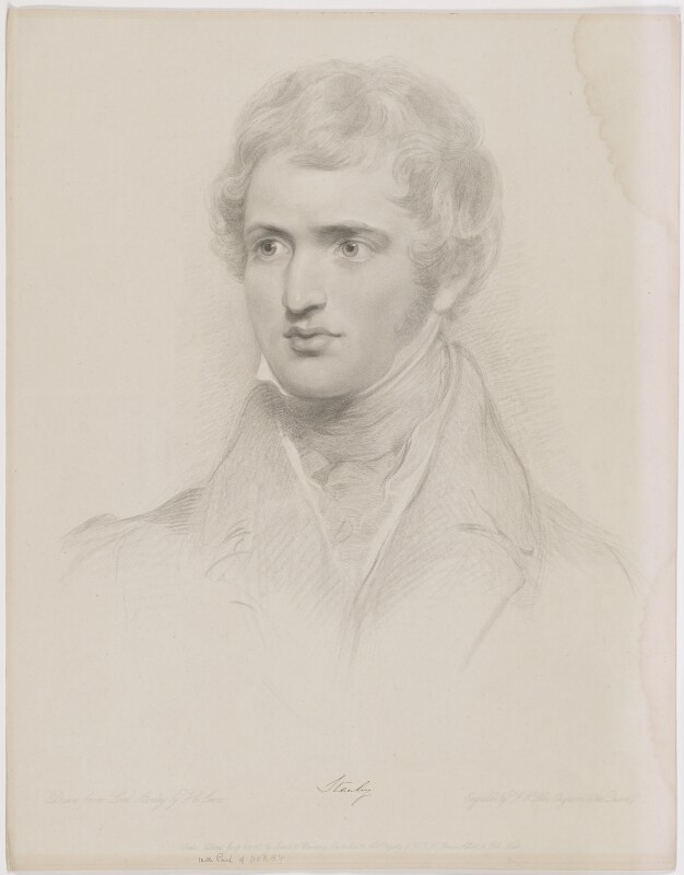 Edward Stanley, 14th Earl of Derby, by Frederick Christian Lewis Sr, published by  Graves & Warmsley, published 1 January 1842 - NPG D35122 - © National Portrait Gallery, London