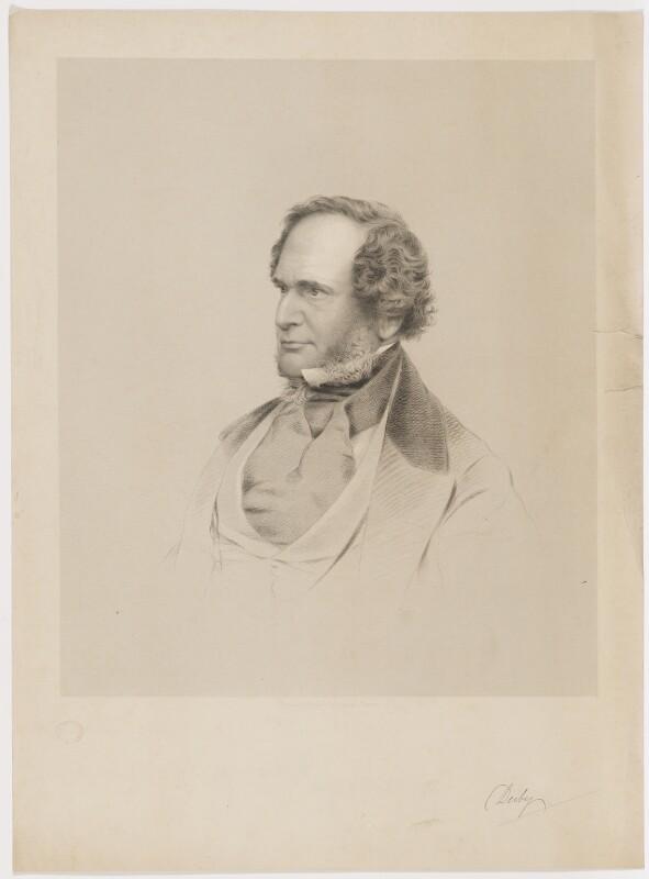 Edward Stanley, 14th Earl of Derby, by Joseph Brown, 1860s - NPG D35123 - © National Portrait Gallery, London