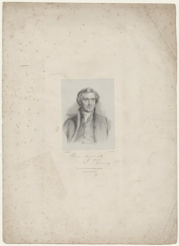 Joseph John Gurney, by Richard James Lane, printed by  M & N Hanhart, published by  Josiah Fletcher, after  George Richmond, 1847 - NPG D35075 - © National Portrait Gallery, London
