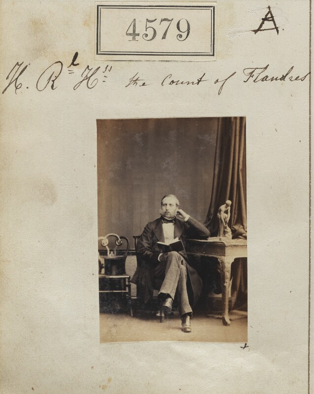 Prince Philippe of Belgium, Count of Flanders, by Camille Silvy, 25 June 1861 - NPG Ax54591 - © National Portrait Gallery, London
