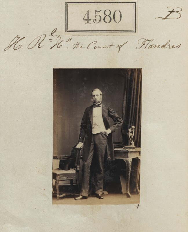 Prince Philippe of Belgium, Count of Flanders, by Camille Silvy, 25 June 1861 - NPG Ax54592 - © National Portrait Gallery, London