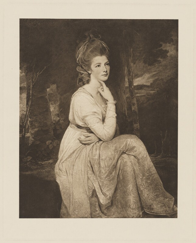 Elizabeth Stanley (née Hamilton), Countess of Derby, after George Romney, 1905 (1776-1778) - NPG D35130 - © National Portrait Gallery, London