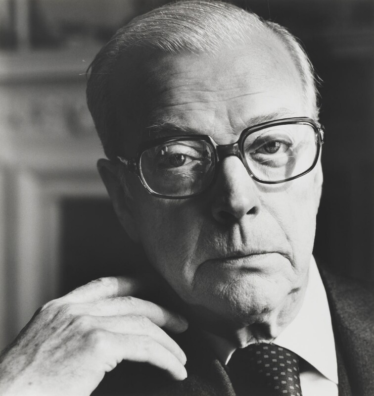Eric Clifford Ambler, by Lord Snowdon, 25 March 1977 - NPG P798 - © Armstrong Jones