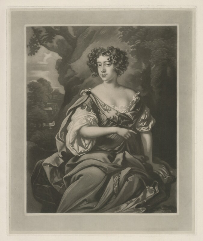 Eleanor ('Nell') Gwyn, by Henry T. Greenhead, after  Sir Peter Lely, before 16 June 1913 - NPG D35092 - © National Portrait Gallery, London