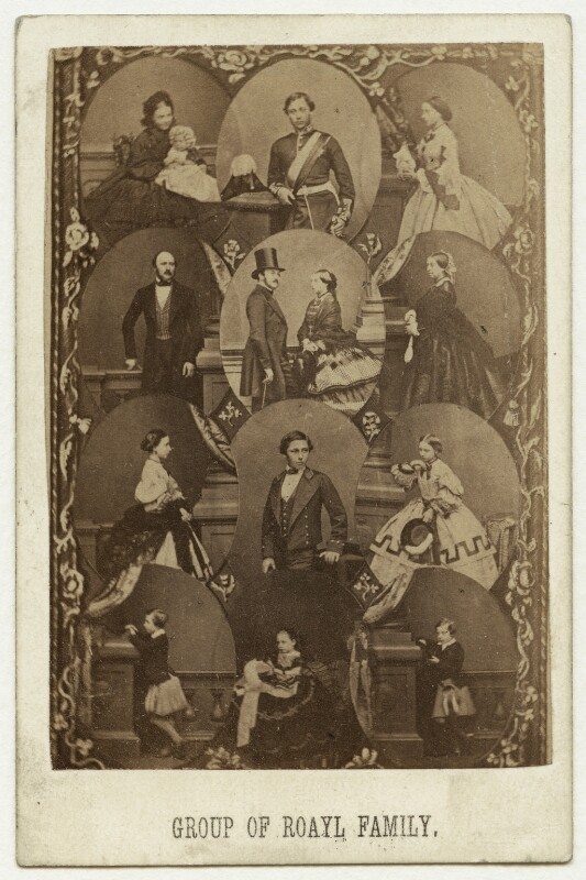 'Group of Royal Family', by and after John Jabez Edwin Mayall, early 1860s - NPG x132718 - © National Portrait Gallery, London