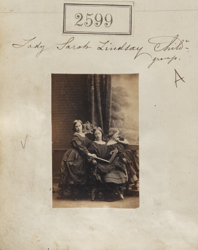 Mabel Ramsden (née Lindsay); Maud Isabella Lindsay; Mary Egidia Antrobus (née Lindsay), by Camille Silvy, 19 March 1861 - NPG Ax51988 - © National Portrait Gallery, London