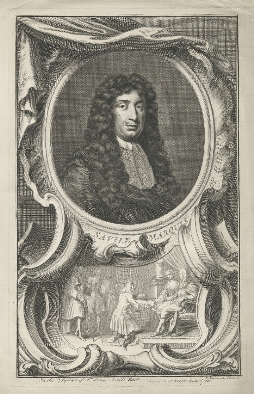 George Savile, 1st Marquess of Halifax, by Jacobus Houbraken, published by  John & Paul Knapton, 1740 - NPG D35212 - © National Portrait Gallery, London