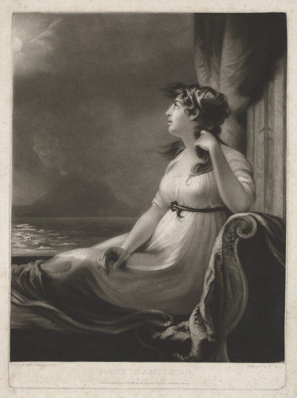 Emma Hamilton, by and published by William Say, after  John James Masquerier, published 20 May 1806 - NPG D35238 - © National Portrait Gallery, London