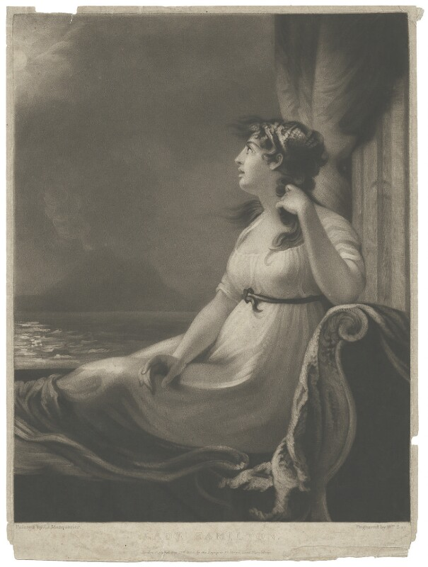 Emma Hamilton, by and published by William Say, after  John James Masquerier, published 20 May 1806 - NPG D35239 - © National Portrait Gallery, London