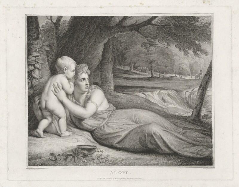 Emma Hamilton ('Alope'), by Richard Earlom, published by  John Boydell, published by  Josiah Boydell, after  George Romney, published 1 August 1787 - NPG D35240 - © National Portrait Gallery, London