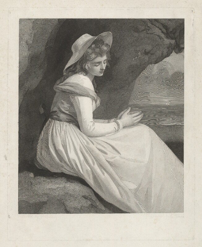 Emma Hamilton, by Charles Brome, by  Thomas Bragg, after  George Romney, 1827 (mid 1780s) - NPG D35243 - © National Portrait Gallery, London