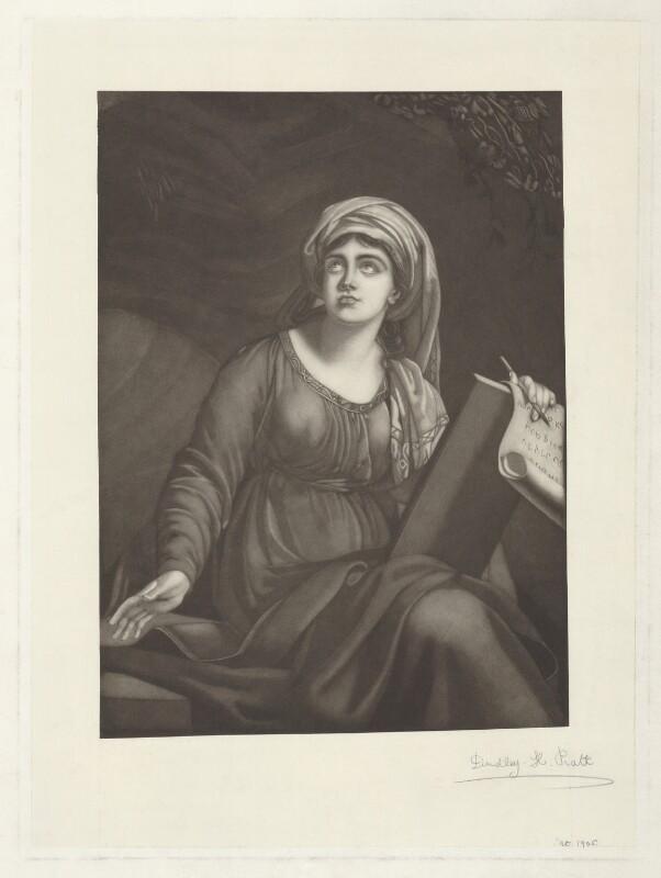 Emma Hamilton as a Sibyl, by Dudley H. Pratt, after  Elisabeth-Louise Vigée-Le Brun, (1791-1792) - NPG D35245 - © National Portrait Gallery, London