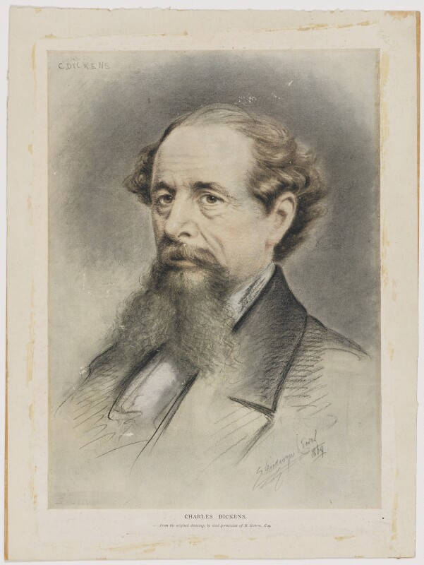 Charles Dickens, after E. Goodwyn Lewis, (1869) - NPG D35174 - © National Portrait Gallery, London