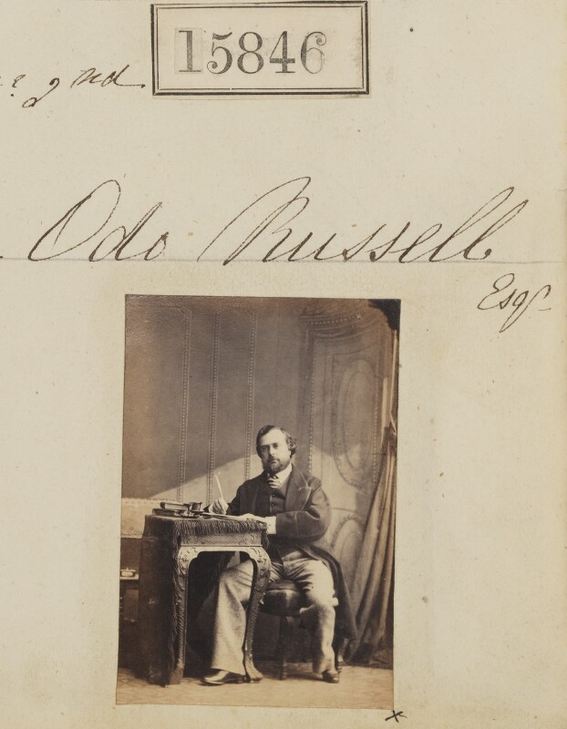 Odo William Leopold Russell, 1st Baron Ampthill, by Camille Silvy, 2 September 1864 - NPG Ax63776 - © National Portrait Gallery, London