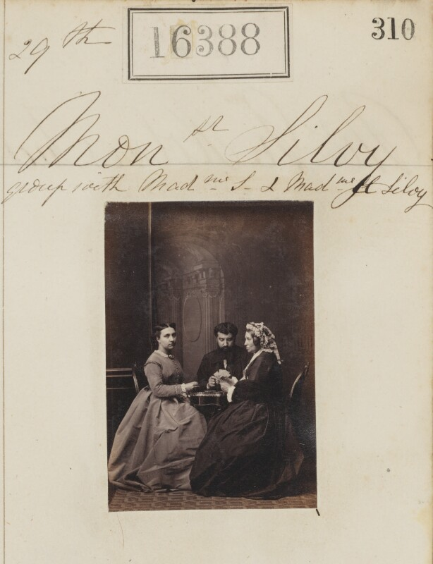 (Louise Marie Elisabeth Lucie) Alice Silvy (née Monnier); Camille Silvy; Marie-Louise Silvy (née Pied), by Camille Silvy, 29 May 1865 - NPG Ax64301 - © National Portrait Gallery, London