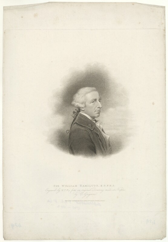 Sir William Hamilton, by William Thomas Fry, published by  T. Cadell & W. Davies, after  Charles Grignion, after  Hugh Douglas Hamilton, published 27 March 1817 - NPG D35271 - © National Portrait Gallery, London