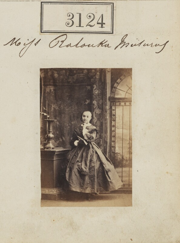 Ralouka ('Rachel') Bibesco-Bassaraba (née Musurus), Princess de Brancovan, by Camille Silvy, 18 April 1861 - NPG Ax52524 - © National Portrait Gallery, London