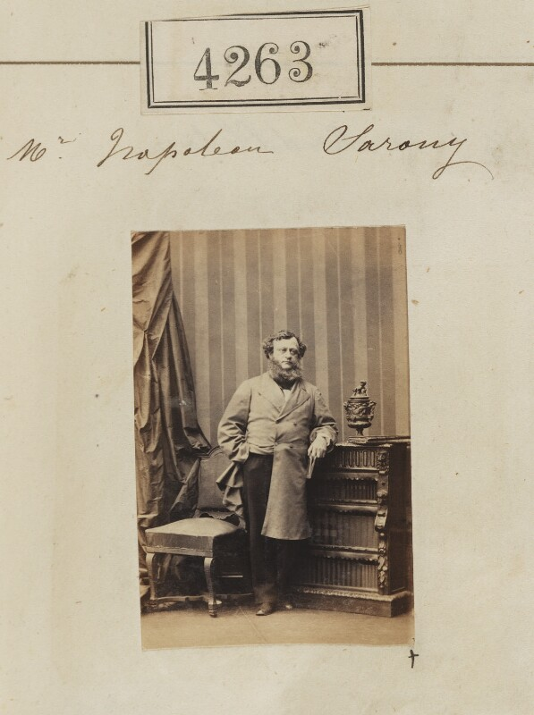 Oliver François Xavier Sarony, by Camille Silvy, 9 June 1861 - NPG Ax54278 - © National Portrait Gallery, London