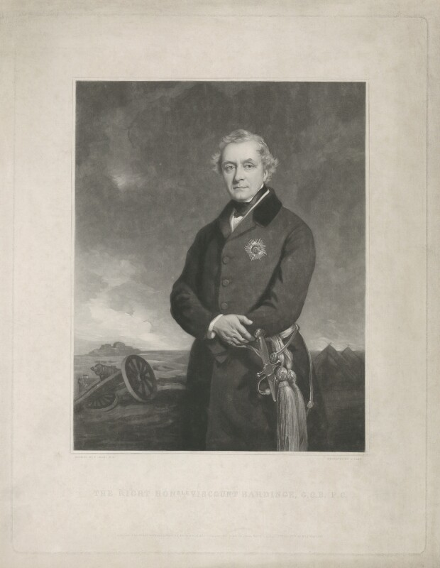 Henry Hardinge, 1st Viscount Hardinge of Lahore, by James Faed the Elder, published by  Paul and Dominic Colnaghi & Co, after  Sir Francis Grant, published 1 November 1851 (1849) - NPG D35407 - © National Portrait Gallery, London