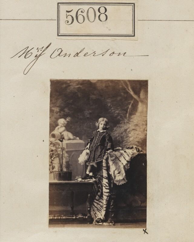 Miss Anderson, by Camille Silvy, 30 August 1861 - NPG Ax55563 - © National Portrait Gallery, London