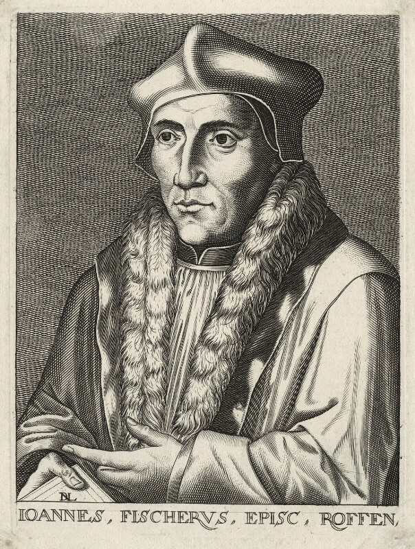 John Fisher, by D.L., after  Hans Holbein the Younger, 17th century - NPG D35479 - © National Portrait Gallery, London