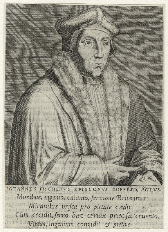 John Fisher, by Philipp Galle, published 1572 - NPG D35482 - © National Portrait Gallery, London
