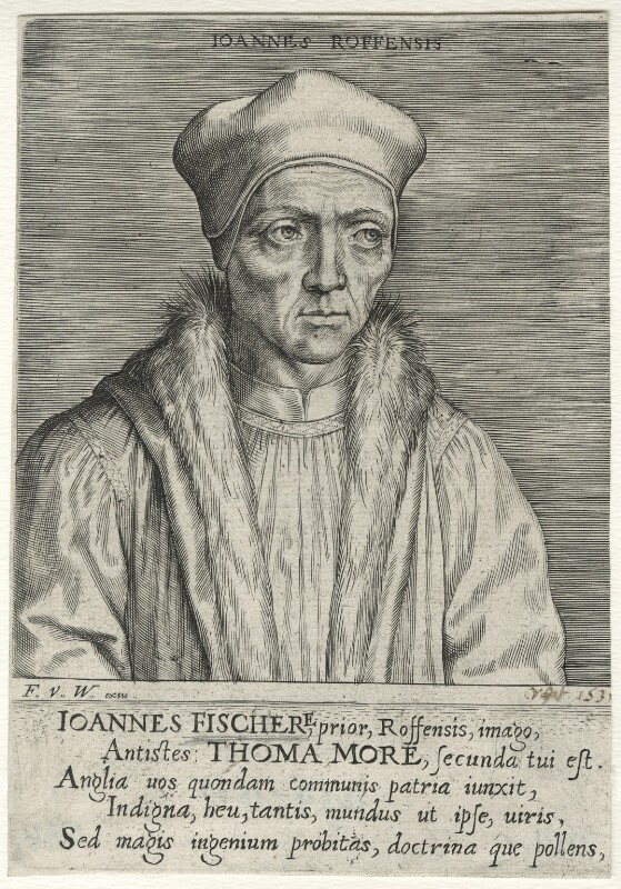 John Fisher, published by Frans van den Wyngaerde (Wijngaerde), after  Unknown artist, mid 17th century - NPG D35484 - © National Portrait Gallery, London