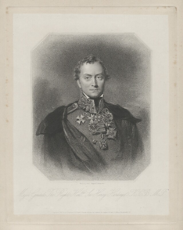 Henry Hardinge, 1st Viscount Hardinge of Lahore, by Francis Holl, published by  Henry Thomas Ryall, published by  James Fraser, published by  Sir Francis Graham Moon, 1st Bt, after  Eden Upton Eddis, published 1836 - NPG D35411 - © National Portrait Gallery, London
