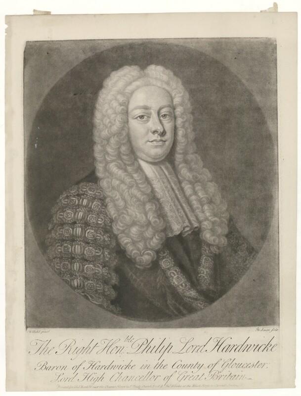 Philip Yorke, 1st Earl of Hardwicke, by Gerhard Bockman, printed by  Thomas Bowles Jr, printed by  John Bowles, after  Michael Dahl, circa 1750-1768 - NPG D35413 - © National Portrait Gallery, London
