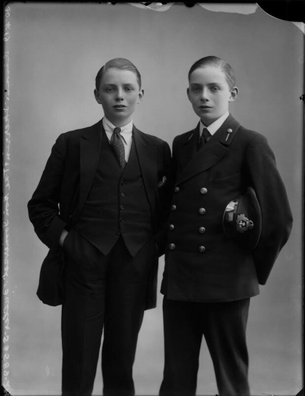 Theobald Walter Somerset Henry Butler, 8th Earl of Carrick; Hon. (Horace) Somerset Edmond Butler, by Bassano Ltd, 30 April 1919 - NPG x154470 - © National Portrait Gallery, London