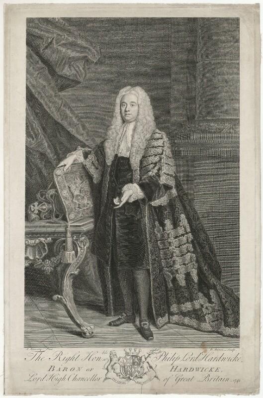 Philip Yorke, 1st Earl of Hardwicke, by Bernard Baron, after  Allan Ramsay, 1742 - NPG D35416 - © National Portrait Gallery, London