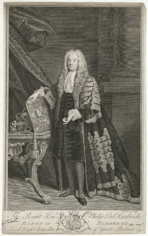 Philip Yorke, 1st Earl of Hardwicke, by Bernard Baron, after  Allan Ramsay, 1742 - NPG D35417 - © National Portrait Gallery, London