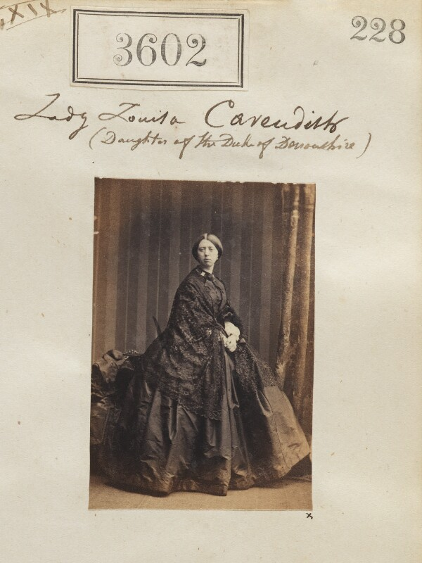 Lady Louisa Caroline Egerton (née Cavendish), by Camille Silvy, 13 May 1861 - NPG Ax52998 - © National Portrait Gallery, London