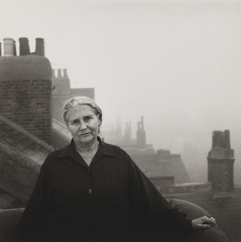 Doris Lessing, by Lord Snowdon, 25 February 1992 - NPG P823 - © Armstrong Jones