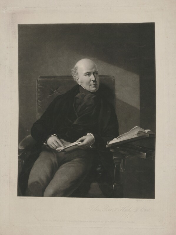 Sir Robert Harland, 2nd Bt, by Thomas Lewis Atkinson, published by  Henry Graves & Co, after  Samuel Laurence, published 29 May 1849 (1845) - NPG D35444 - © National Portrait Gallery, London