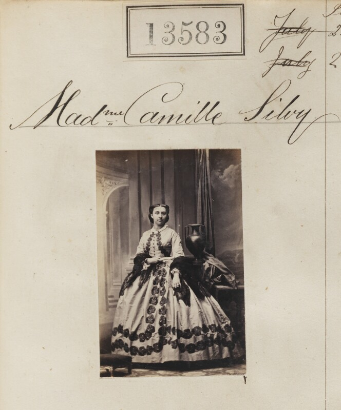 (Louise Marie Elisabeth Lucie) Alice Silvy (née Monnier), by Camille Silvy, 20 June 1863 - NPG Ax63216 - © National Portrait Gallery, London