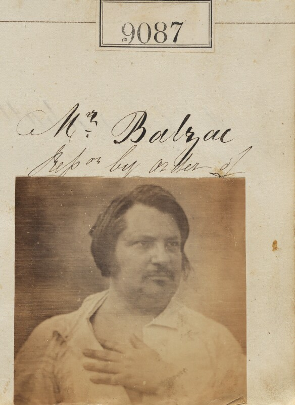 'Reproduction by order of Mr. Balzac' (Honoré de Balzac), by Camille Silvy, after a daguerreotype by  Louis Auguste Bisson, circa 1862 (1842) - NPG Ax58909 - © National Portrait Gallery, London