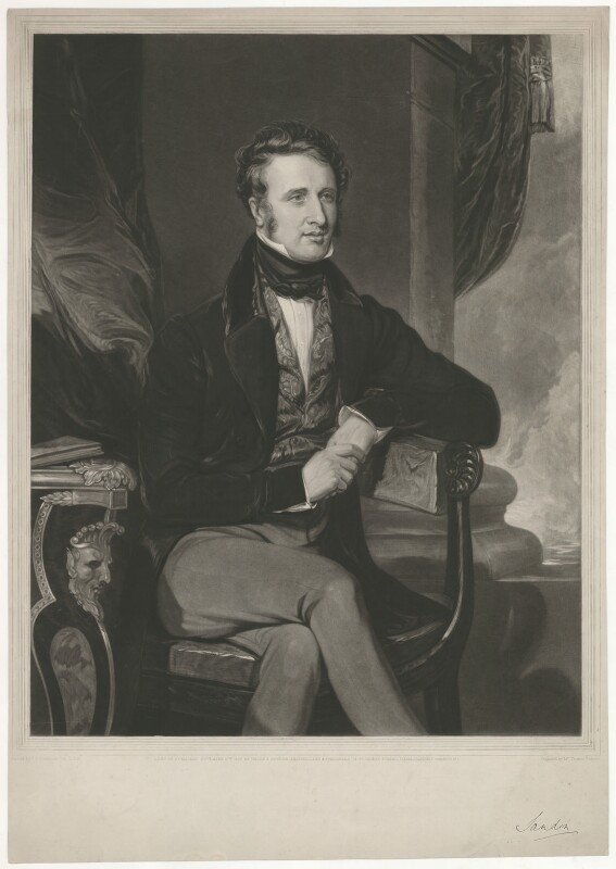 Dudley Ryder, 2nd Earl of Harrowby, by Thomas Hodgetts, published by  Welch & Gwynne, after  Thomas Clement Thompson, published 15 November 1837 - NPG D35542 - © National Portrait Gallery, London