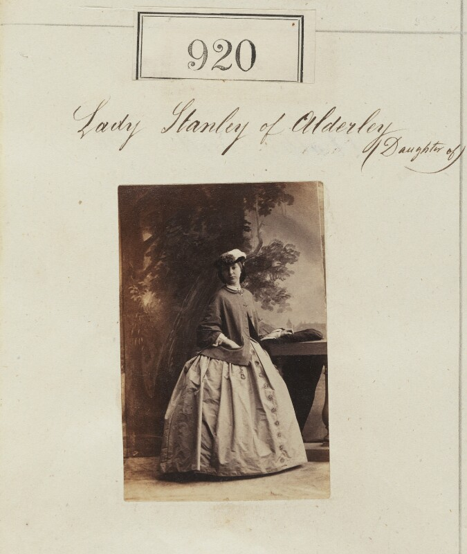 Katherine Louisa (née Stanley), Viscountess Amberley, by Camille Silvy, 1860 - NPG Ax50497 - © National Portrait Gallery, London