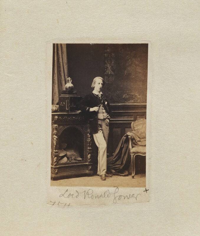 Lord Ronald Charles Sutherland-Leveson-Gower, by Camille Silvy, 3 April 1862 - NPG Ax53335 -