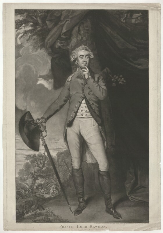 Francis Rawdon-Hastings, 1st Marquess of Hastings, by and published by John Jones, after  Sir Joshua Reynolds, published 1 May 1792 (1789-1790) - NPG D35570 - © National Portrait Gallery, London