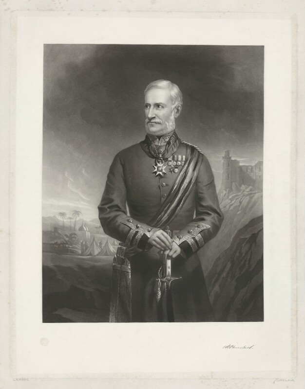 Sir Henry Havelock, Bt, by J. Sinclair, after  W. Crabbe, published 1858 - NPG D35603 - © National Portrait Gallery, London