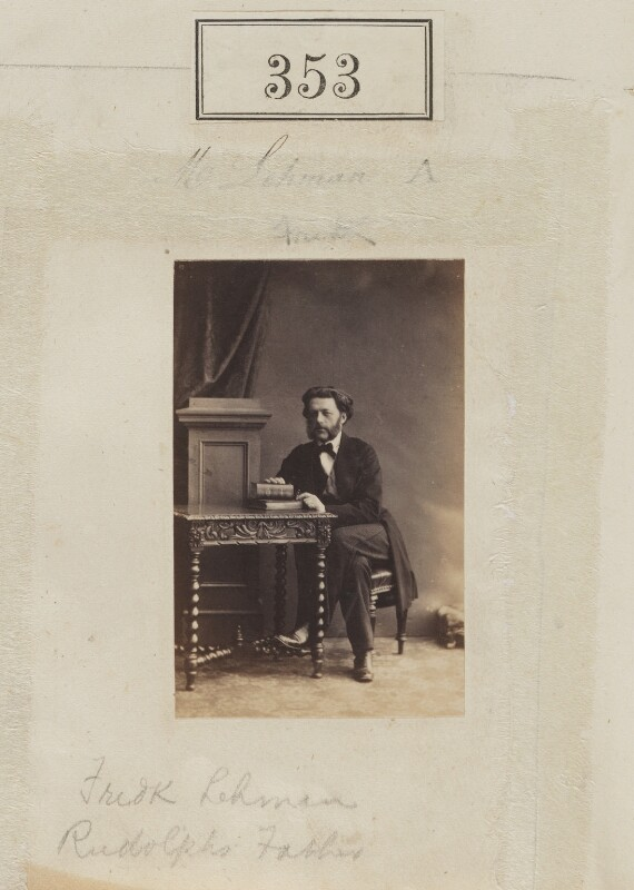 (Augustus) Frederick Lehmann, by Camille Silvy, 1860 - NPG Ax50118 - © National Portrait Gallery, London