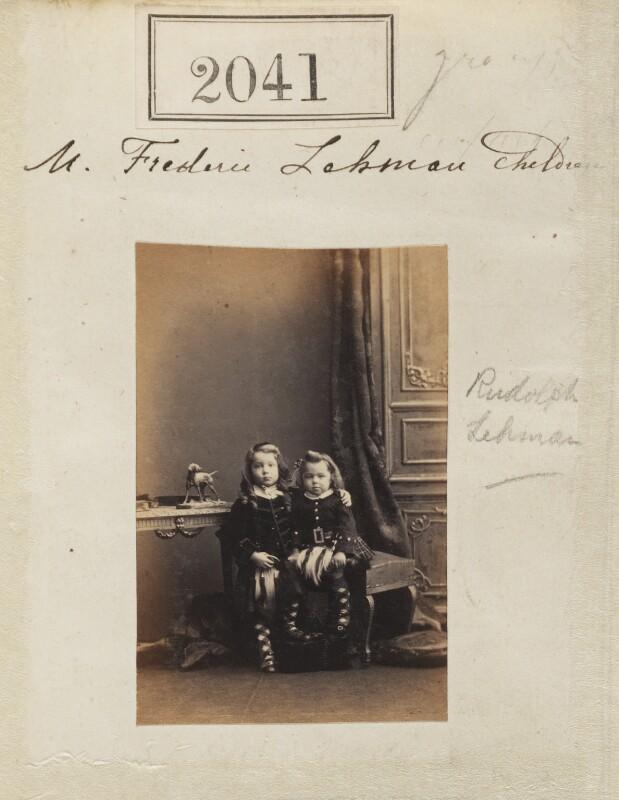 Rudolph Chambers Lehmann; Frederick Hope Lehmann, by Camille Silvy, 4 February 1861 - NPG Ax51430 - © National Portrait Gallery, London