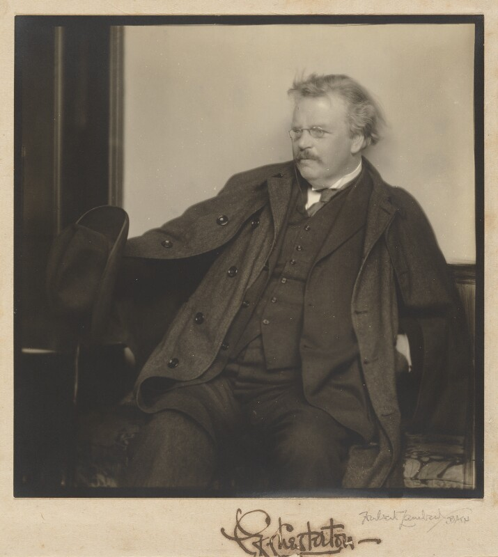 G.K. Chesterton, by Herbert Lambert, 1920s - NPG P1318 - © National Portrait Gallery, London