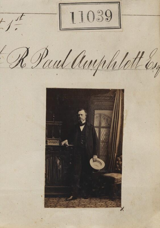 Sir Richard Paul Amphlett, by Camille Silvy, 1 August 1862 - NPG Ax60743 - © National Portrait Gallery, London