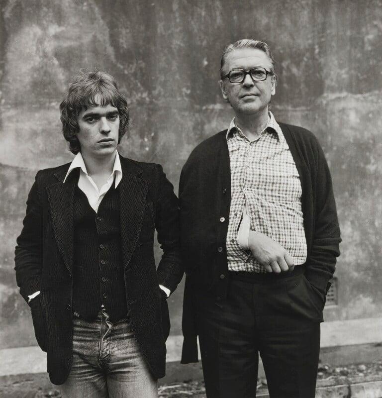Martin Amis; Kingsley Amis, by Dmitri Kasterine, 2009, based on a work of 1975 - NPG P1320 - © Dmitri Kasterine