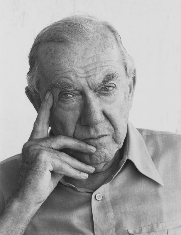 Graham Greene, by Dmitri Kasterine, 2009, based on a work of 1982 - NPG P1330 - © Dmitri Kasterine